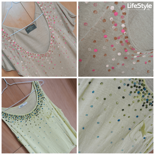 Camiseta DIY con decoración reciclada