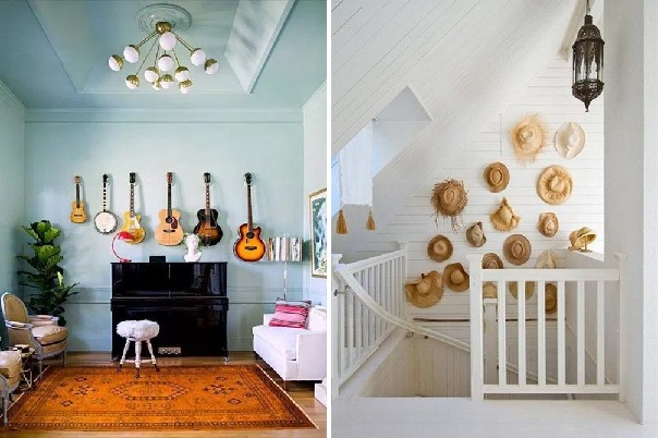 Ideas para decorar paredes 78 tips sorprendentes - Objetos para decorar paredes ...
