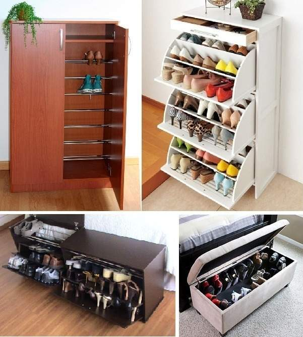 30 ideas originales para guardar y organizar tus zapatos
