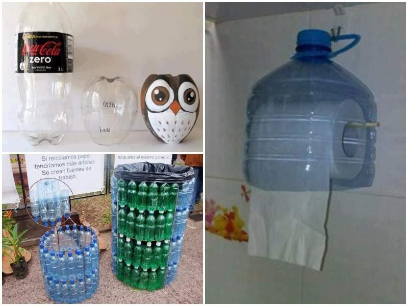 50 ideas para reciclar botellas de pl stico - Artesanias para decorar el hogar ...