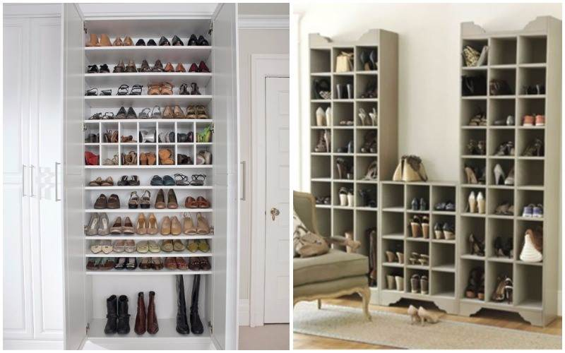 30 ideas originales para guardar y organizar tus zapatos - Estanterias originales de pared ...