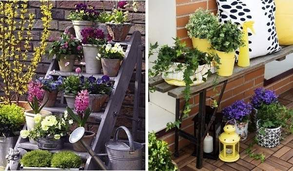 ideas para decorar exteriores con flores