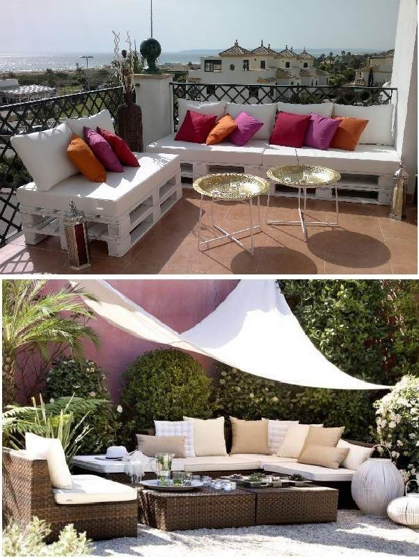 Ideas para terrazas decoraci n original para tus exteriores - Muebles chill out ...