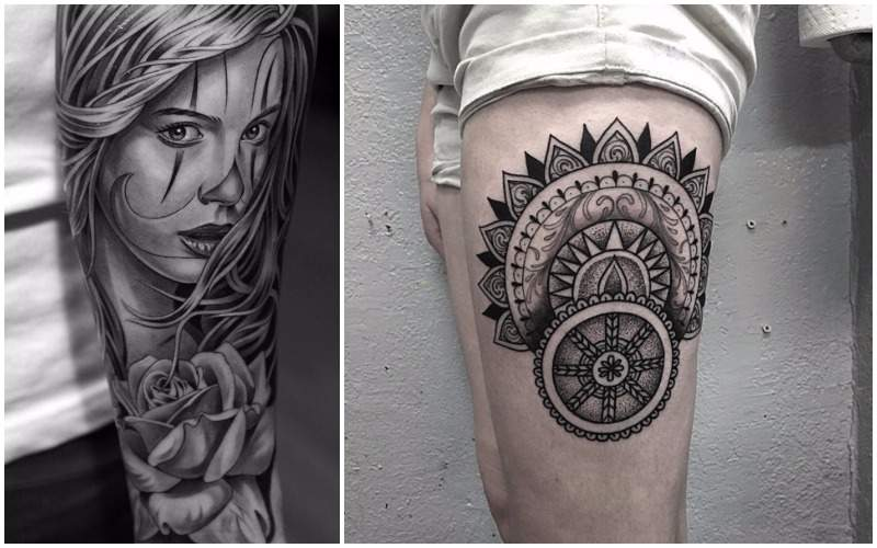 tatuajes black and grey