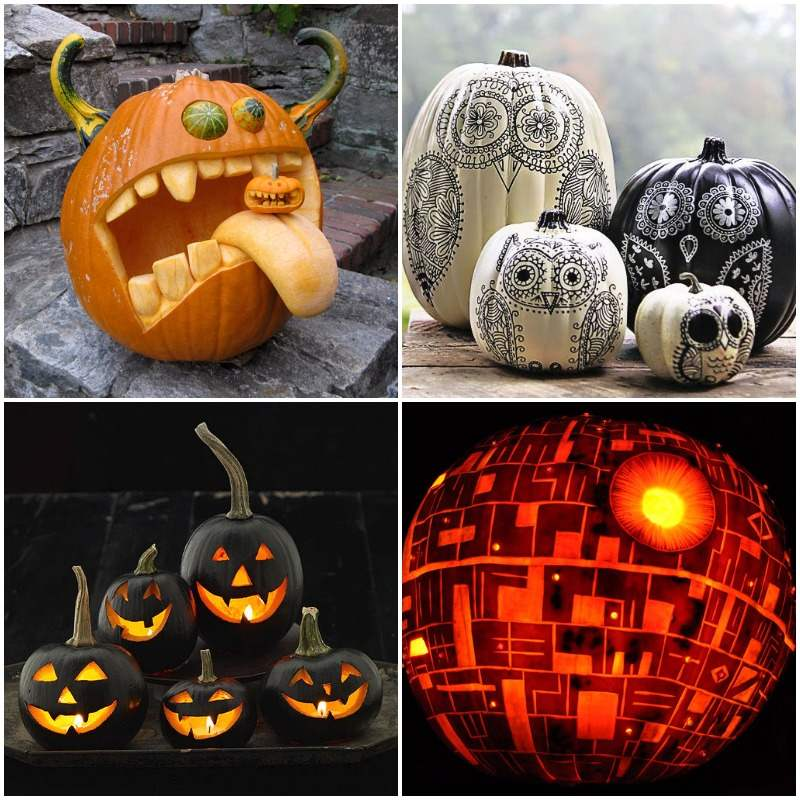 Ideas para decorar tu fiesta de halloween ideas - Calabazas decoradas para halloween ...