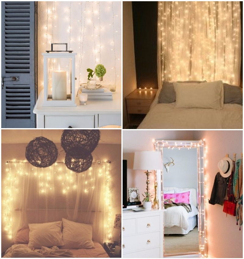 43 ideas para decorar tu cuarto tips originales para - Habitaciones con luces ...